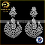Brazil hot sale brass wholesale women fashion design hanging earrings