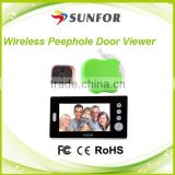 High definition PIR movement detection 7 inch intercom long distance night vision wireless door phone