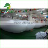 High Qualilty Large inflatable Blimp For Sale , White Outdoor Helium Blimp Airship For Advertising
