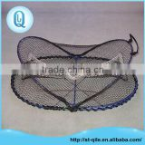 Top quality iron frame pe net adjustable oval fishing net trap for crab
