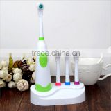 Family pack electric roating type toothbrush with 4 colors extral heads
