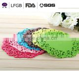 elegant good products popular silicone pot mat&silicone cup mat&anti-slip silicone baking mat