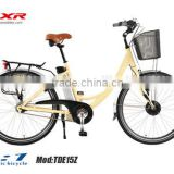 MARS Vehicle TDB19Z Electric Bicycle 250W 36V 10AH Lady 700C Electric motor Bike Yellow Frame