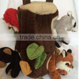 plush pet toy/plush tree house for dog/plush pet house toy/animal tree hole for animal toy/plush tree house