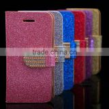 Diamond Bling Glitter Wallet Leather Case For iphone 5 5S/iphone 4 4S/iphone 5C