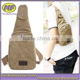 Fashion New Design Cheap Hobo Teens Blank Canvas Sling Bag for Men                                                                         Quality Choice
