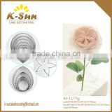 K-sun stainless steel leaf petal calyx rose cutter set for fondant gumpaste cake decorating reposteria