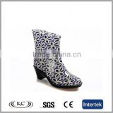 high quality new brown leopard print high heel rubber rain fashion boots women