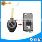Modified Folding flip car key with 2 track blade and logo folding key for BMW E60 E61 E34 E36