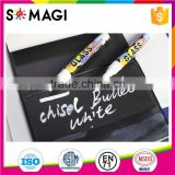 Reversible Bullet And Chisel Tip and Dry-Erase & Wet-Erase chalk marker with rich fluorescent Colors