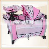 folding baby playpen baby crib plastic baby playpen with mosquito net