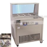 R22 Double Compressor Stainless Steel 110v 220v Electric Fried Yogurt Ice Cream Roll Machine with 8 Boxes