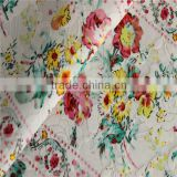 Bright in colour digital embroidery fabric polyester polypropylene blend fabric Colors can be customized