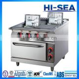 Marine Electric Cooking Range with Oven - 4 Hot Round or Square Plates