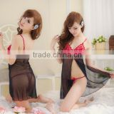 New Women Black Sexy Lingerie G String Dress Underwear Babydoll Sheer Sleepwear