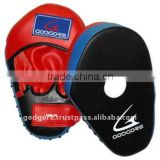 Loop and Hook Velcro Closing Durable Hand Crafted Eva Foam Padding Standard Red and Black Artificial Leather Focus Mitts