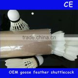 wholesale quality china factory oem brand baton no.1 natural class a goose feather badminton shuttlecock