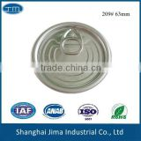 209# 63mm,aluminum lids for easy open cans,aluminum pull ring cap for caned food,juice,beer,sauce