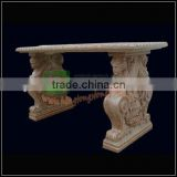 Stone Table for Indoor Dinning Table With statue carving legs