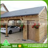 Manufacturer directly supply prefab wooden carport/solar carport