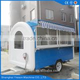 freezer trailer with movable shawarma machine/ food cart with battery & tow bar for mobile food kiosk / fresh juice bar shop