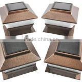 Bronze Finish Solar power light for deck and post cap