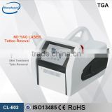 0.5HZ 1064/532 Tattoo Removal Portable Tattoo Removal 1064nm Machine 1064 Nm 532nm Nd Yag Laser