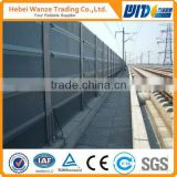 Stainless steel material railway noise barrier/sound barrier wall