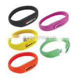Colorful waterproof USB bracelet, bracelet bulk 1GB USB flash drives,promotional waterproof wristband USB flash stick