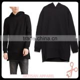 custom plain longline hoodie cheap oversize baggy mens fancy solid color sweatshirt with hood wholesale