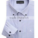 Men's autumn long sleeved shirt with stripes of young and middle aged business casual shirt