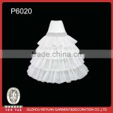 P6020 Bridal Crinoline Petticoat with 4-hoops for Wedding