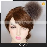 15cm large raccoon fur pompom hair hoop fluffy fur pompon hairband wholesale