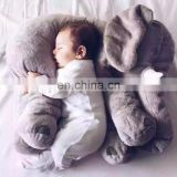 Good quality children room bedding decoration pillow cushion 60cm elephant plush toy wholesale