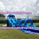 Inflatable water slip n slide, inflatable water slide with pool ID-SLL009