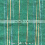SILK FABRIC GREEN AND YELLOW