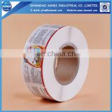 Cheap full color printing rolled adhesive label paper