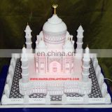 Decorative Marble Taj Mahal With Lighting White Marble Taj Mahal