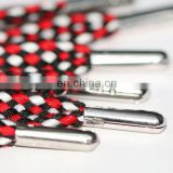 Wholesale high quality custom metal tip shoelace ,fashion braided shoelace