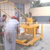 Mobile 8Hp diesel engine manual hollow cement brick making machine