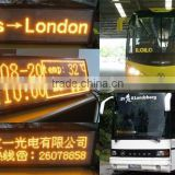 CE ROHS high bright 128*32 p4.75 dot matrix yellow red programmable led car message board