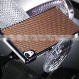 Factory price stylish carbon fiber back cover for sony z2