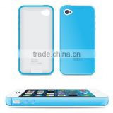 New product hot sale combined phone charger with phone shell ultra-thin power bank for iPhone4 4s                                                                                                         Supplier's Choice
