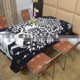 Indian Cotton Table Cloth Black-White Tree Elephant Printed Dinning Vintage Wall Hanging Throw Bed Sheet Cover TC48