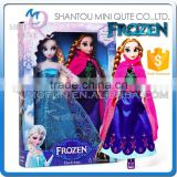 Mini Qute wholesale 2 in 1 movable joints Plastic cartoon Frozen doll frozen princess anna & elsa olaf girls children toys