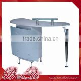 Beiqi Hot Sale Glass Top U Shape Manicure Table for Beauty Barber Salon Used Nail Care Table in Guangzhou
