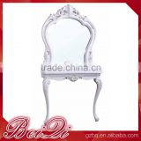 beautiful Carving Frame Makeup Table Salon Mirror ,European Style Hair Salon Mirror Station