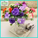 25cm 7 branch silk purple rose bulk artificial flowers                                                                         Quality Choice