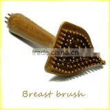 Female Manual Multi-purpose for magnetic dredge meridians Anti breast hyperplasia long handlebar massage brush