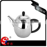 New arrival stainless steel turkish coffee drip kettle with mirror polishing and plastic handle